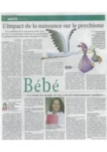 L'impact de la naissance sur le psychisme